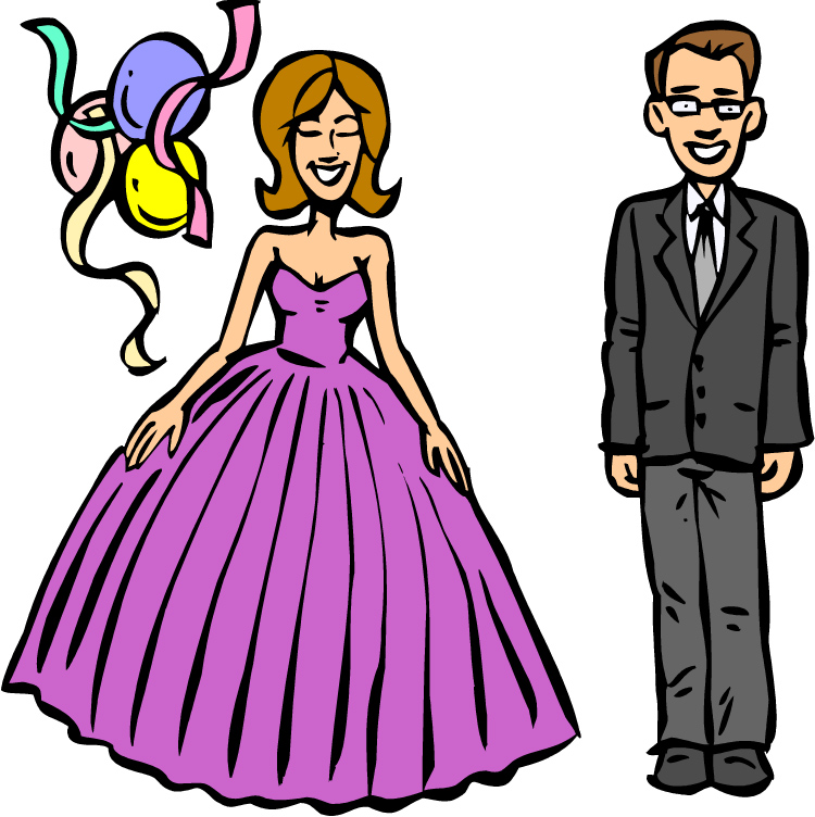 Free image/jpeg, Resolution: 750x752, File size: 220Kb, High School Prom Clip Art N3
