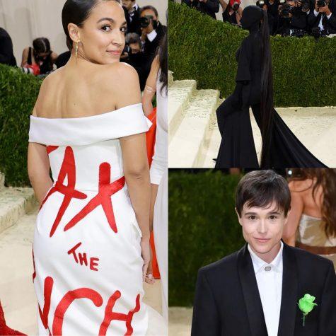 Alexandria Ocasio-Cortez, Kim Kardashian, and Elliot Page show off haute couture at the Met Gala.
