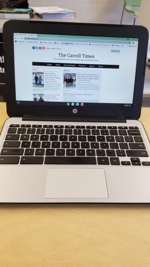 School-issued Chromebooks facilitate paperless classrooms, allow for virtual learning, and expand access to resources, but they are not loved by all.